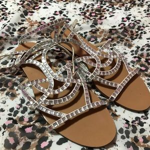 Imagine Vince Camuto I'm-Ryan shoes clear sparkly